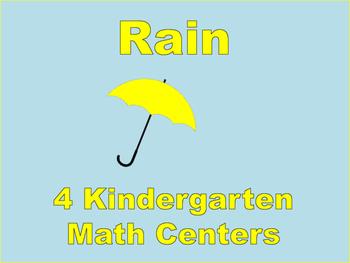 Kindergarten Math Centers: Rain