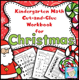 Winter Holidays: Christmas Cut-and-Glue Math for Kindergarten