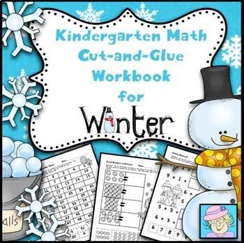 Kindergarten Cut-and-Glue Math for Winter