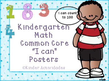 "Kindergarten Math ""I can"" Posters"