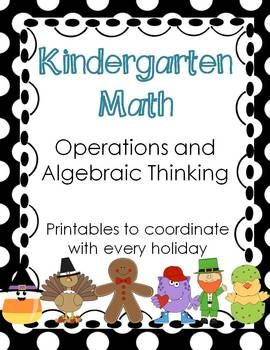 Kindergarten Math Common Core Operations and Algebraic Thi