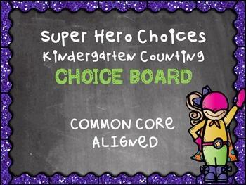 Kindergarten Math Counting Multiple Intelligence Choice Bo