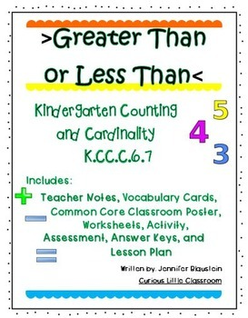 Kindergarten Common Core Math Counting and Cardinality-Gre