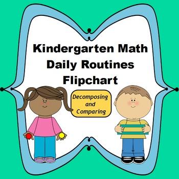 Kindergarten Math Daily Routines Flipchart: Decomposing an