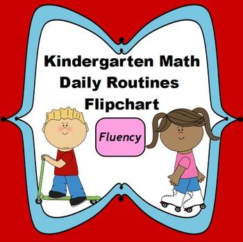 Kindergarten Math Daily Routines Flipchart: Fluency