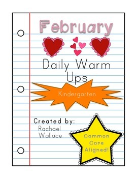 Kindergarten Math Daily Warm Ups for February