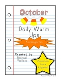 Kindergarten Math Daily Warm Ups for October