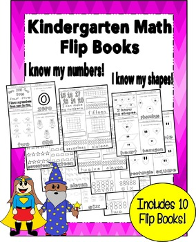 Kindergarten Math Flip Books