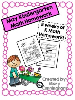 Kindergarten Math Homework {May}