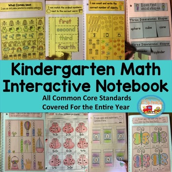 Kindergarten Math Interactive Notebook ~ All Common Core S