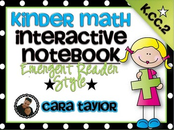 Kindergarten Math Interactive Notebook ~ Emergent Reader S