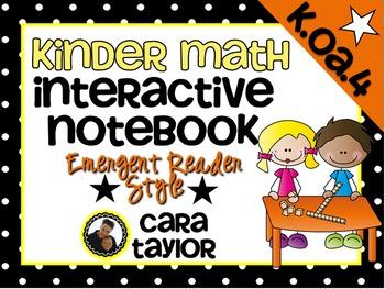Kindergarten Math Interactive Notebook ~ Emergent Reader S