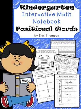 Kindergarten Math Interactive Notebook ~ Positional Words