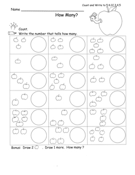 Kindergarten Math Intervention: Counting and Writing Numbe