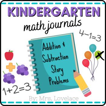 Kindergarten Math Journal Prompts:  Story Problems **25 prompts**