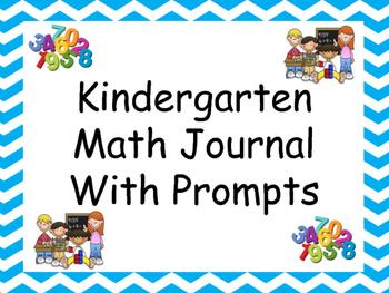 Kindergarten Math Journal WITH PROMPTS!