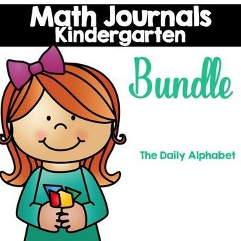 Kindergarten Math Journals Bundle