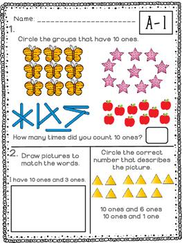 Kindergarten Math Module 5 Quick Check - Topic A