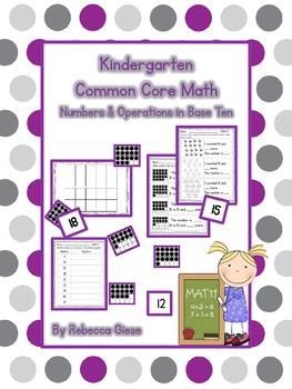 Kindergarten Math {Numbers & Operations in Base Ten}