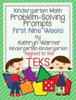 Kindergarten Math Problem Solving Prompts First Nine Weeks
