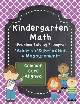 Kindergarten Math Problem Solving Prompts - Part 4/4 - Add
