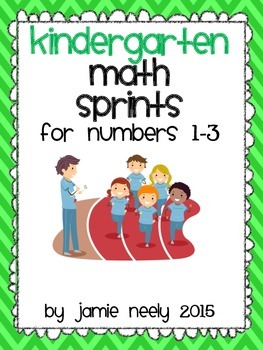 Kindergarten Math Sprints for Numbers 1-3