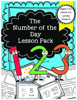 Kindergarten Math- The Number of the Day Pack