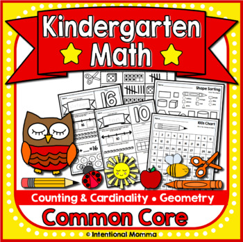 Kindergarten Math Worksheets for Common Core by Intentional Momma ...