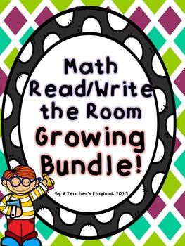 Kindergarten Math Write the Room Growing Bundle