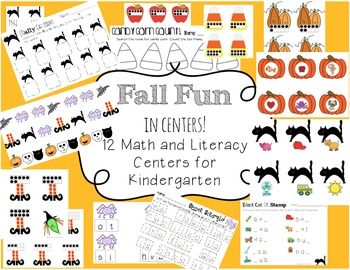 Kindergarten Math and Literacy Centers for Fall