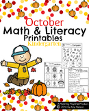 Kindergarten Math and Literacy Printables - October