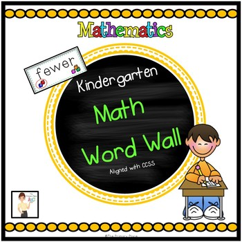Kindergarten Math in Focus Math Word Wall