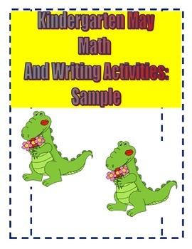 Kindergarten May Math Reading and Writing Activities Sample