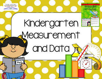 Kindergarten Measurement and Data (Lessons and Activities)