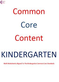 Kindergarten Common Core Math Worksheets Measurement and D