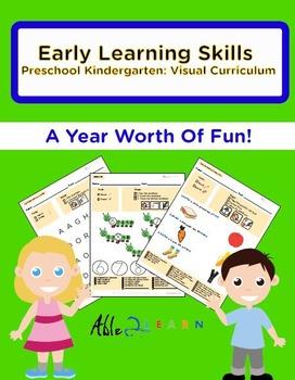 1 Year Early Learning Skills Preschool Kindergarten: Visua