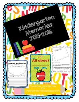 Kindergarten Memories- End of the year activities and memory book