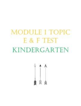 Kindergarten Module 1 Topic E and F Eureka Math Test