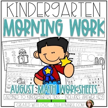 Kindergarten Morning Work {August Math}