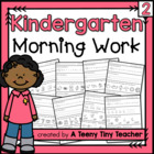 Kindergarten Morning Work - Daily Language Arts and Math Review