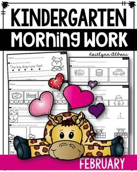 Kindergarten Morning Work - February [Winter]