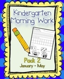 Kindergarten Morning Work Pack 2 (January-May)