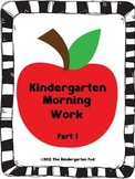 Kindergarten Morning Work - Part 1