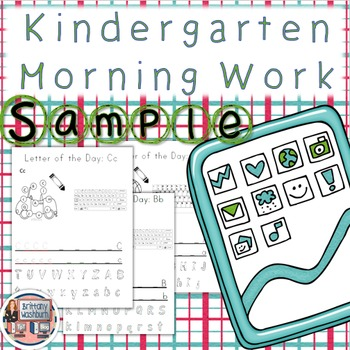 Kindergarten Morning Work Sampler