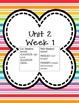 Kindergarten Morning Work Unit 2 (SECOND nine weeks) **100