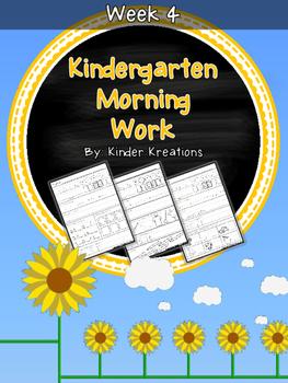 Kindergarten Morning Work - Week Four
