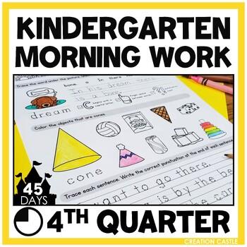 Kindergarten Morning Work - Weeks 28-36
