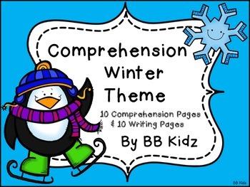 Kindergarten Morning Work - {Winter Themed Comprehension /