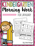 Kindergarten Morning Work for January
