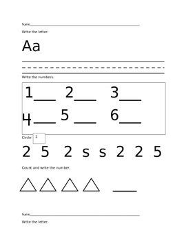 Kindergarten Common Core Test Prep/ Morning Work/ Workshop